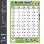 1x1-Lernposter - Skipping